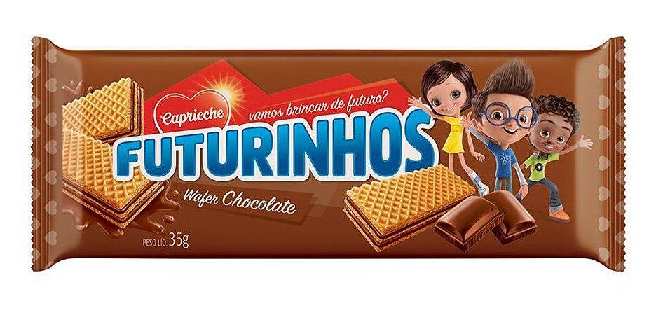 WAFER 35G FUTURINHOS CHOCOLATE - UN X 1