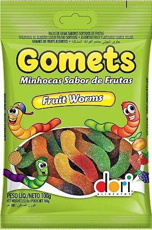 GOMA GOMETS 100 G MINHOCA\FRUTAS - PC X 1