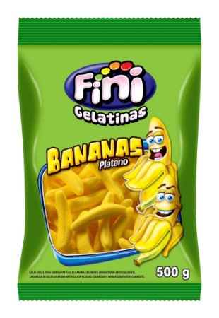 GELATINA 500 G BANANAS - PC X 1