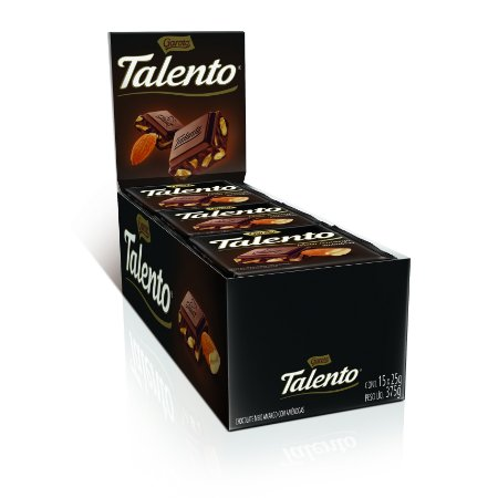 CHOC 25G MINI TALENTO MEIO/AMARG/AMEN - CT X 15