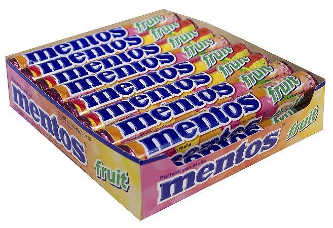 MENTOS 37,5 G FRUTAS SORT - CT X 16