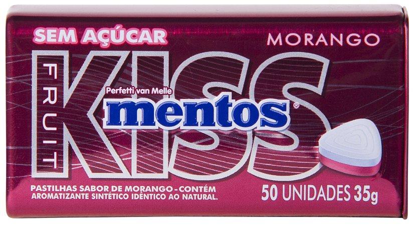 MENTOS 35G KISS LATA MORANGO - UN X 1
