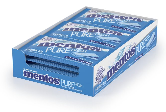 MENTOS 8,5G PURE FRESH MINT 3 L - CT X 15