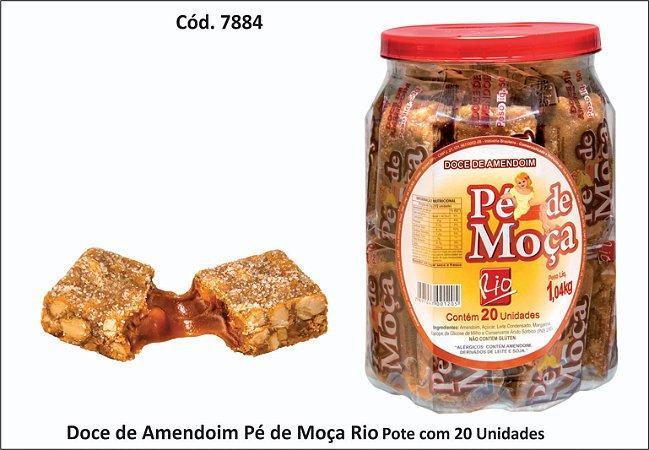 DOCE DE AMENDOIM 52 G PE DE MOÇA - PO X 20