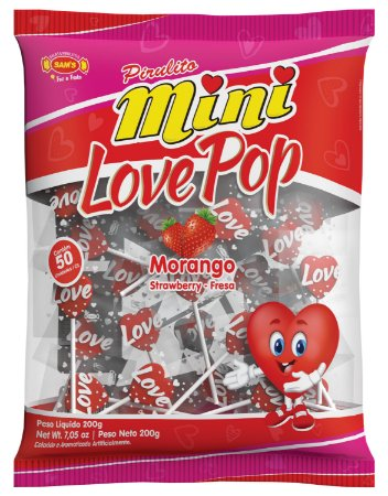 PIR 200G MINI LOVE POP MORANGO - PC X 1