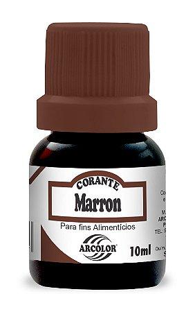 CORANTE 10ML ARCOLOR MARROM - UN X 1