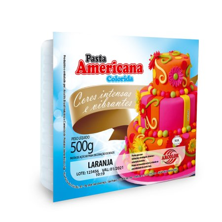 PASTA AMERICANA 500G ARCOLOR LARANJA - UN X 1