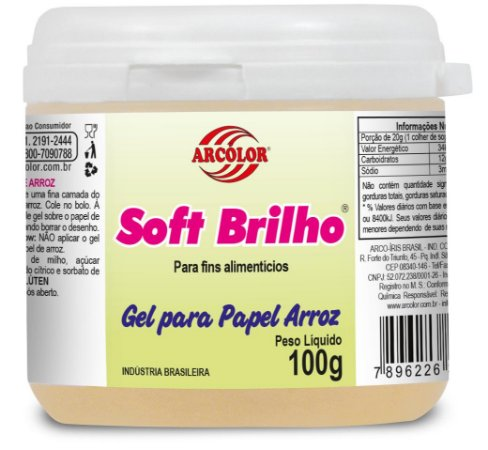 SOFT BRILHO 100G P/PAPEL DE ARROZ - UN X 1