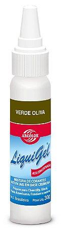 CORANTE LIQUIGEL 30G ARCOLOR VERDE OLIVA - UN X 1