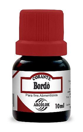 CORANTE 10ML ARCOLOR BORDO - UN X 1
