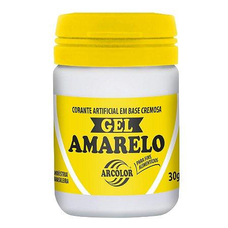CORANTE GEL 30G ARCOLOR AMARELO - UN X 1