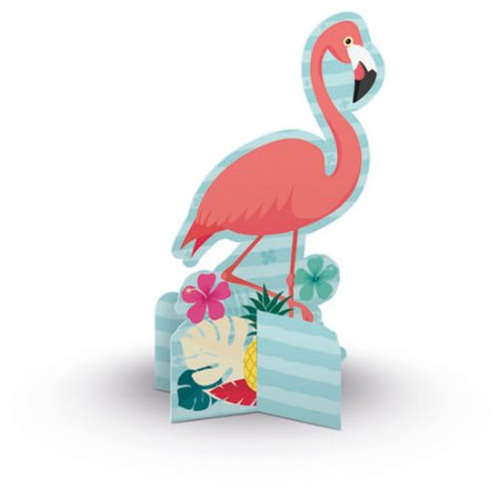 ENFEITE DE MESA C/6 FLAMINGO JUNCO - PC X 1