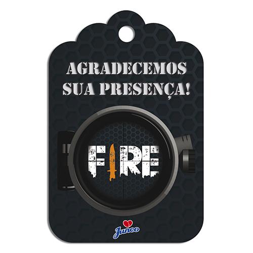 TAG AGRADECIMENTO C/8 FIRE JUNCO - PC X 1