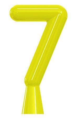 VELA ANIVER NEON AMARELA NUMERO 7 - UN X 1