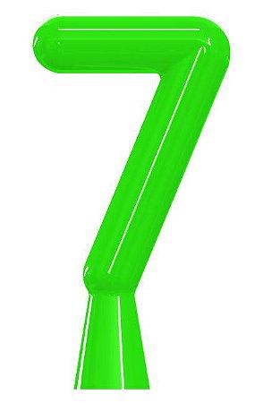 VELA ANIVER NEON VERDE NUMERO 7 - UN X 1