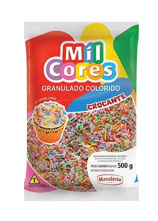 GRANULADO 500G CROCANTE COLORIDO MIL CORES - PC X 1