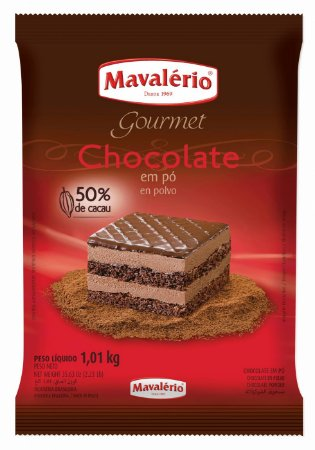 CHOC EM PO 1,01kg SOLUVEL 50% CACAU MAVALEIRO - PC X 1