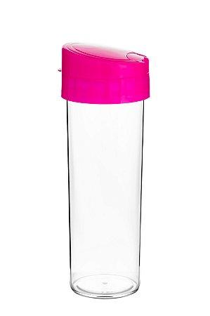 GARRAFA 450ML ECO WATER ROSA FLUORESCEN - UN X 1