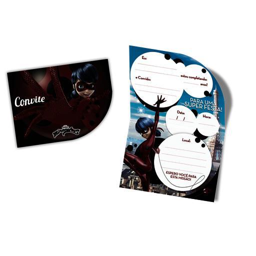 CONVITE PEQ C/8 LADYBUG - PC X 1