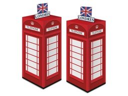 CAIXA SURPRESA CABINE LONDRES C/8 - PC X 1