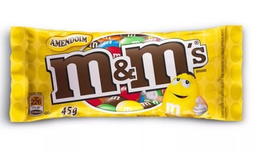 CHOC 45 G M&M'S AMENDOIM - UN X 1