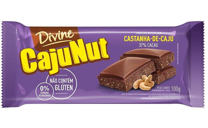 TAB DIVINE CHOC 100G AO LEITE CASTANHA-DE-CAJU