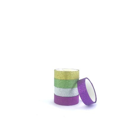 Fitas Adesivas Decorativas Glitter - Washi Tape
