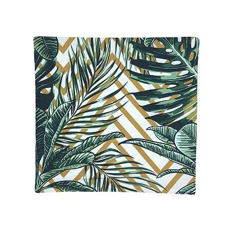 Capa de Almofada Folhas Frente e Verso