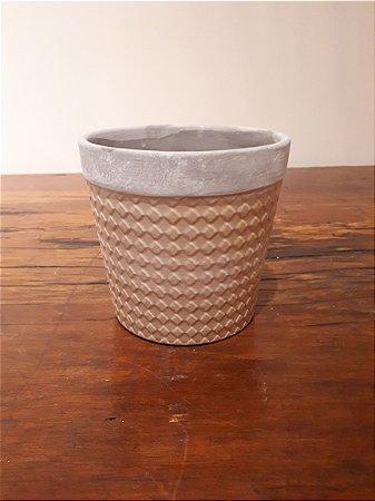 Cachepot Cerâmica Quadri bg 14x13cm