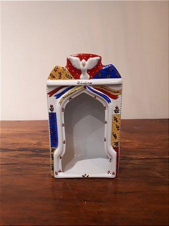 Capela Porcelana Branco 30x18x11cm