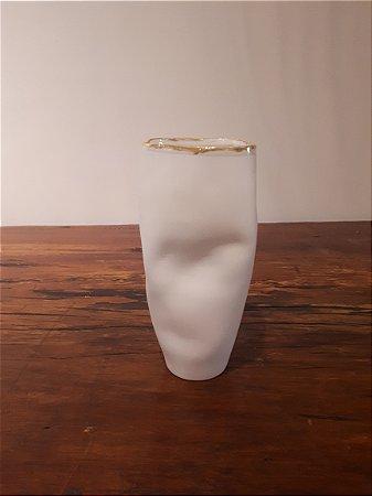 Vaso Porcelana Movimentos G dour 22x10cm