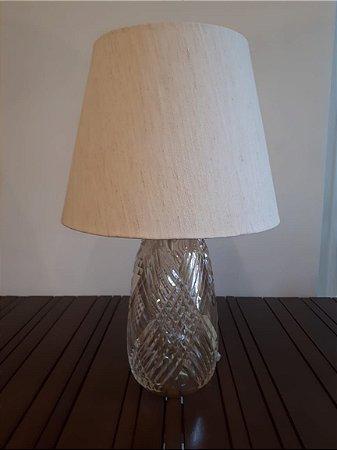 Abajour Cristal Di Murano transp/our 19x36cm