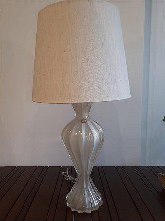 Abajour Cristal Di Murano crem/our 21x49cm