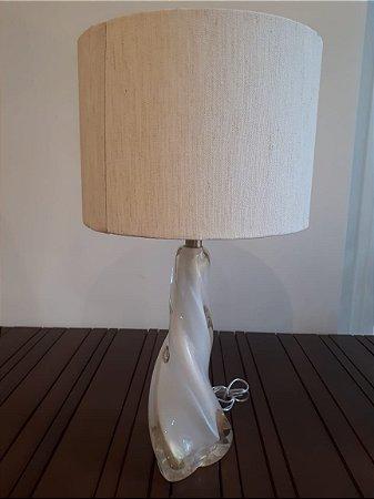 Abajour Cristal Di Murano bco/our 15x38cm