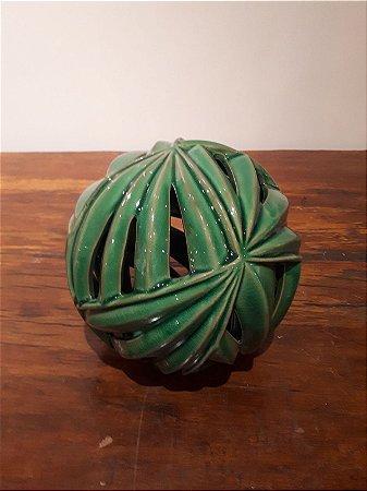 Bola Ceramica Vazado vde P 15x15cm