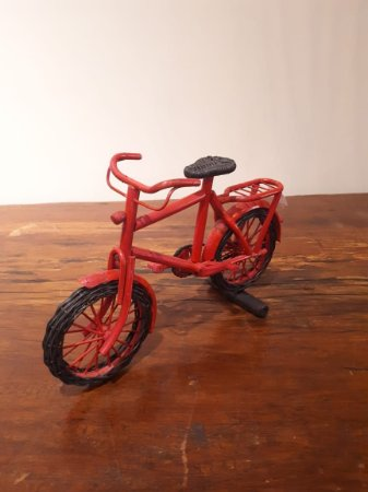 Bicicleta Fibra verm 6x35x23cm