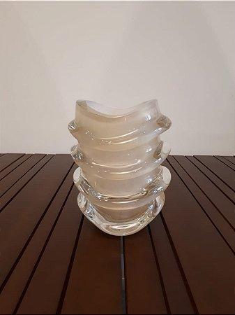 Vaso Cristal Di Murano P bco/our 20x25cm