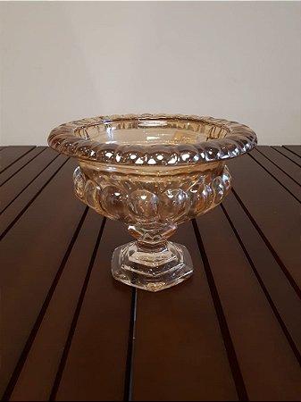 Taça vidro ambar 20x17cm