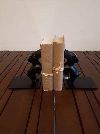 Suporte livros fer Dog pto 36x10x17cm