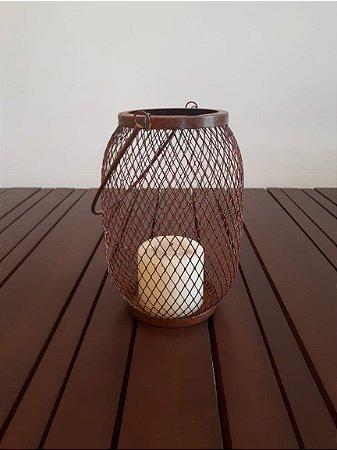 Lanterna metal Mesh 2 G ferr 24x30cm