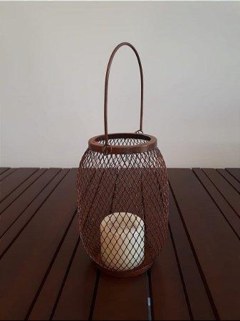 Lanterna metal Mesh 2 P ferr 20x23cm