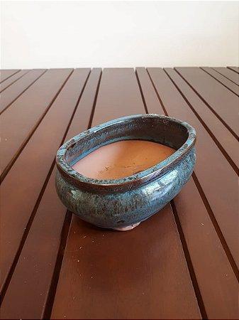 Vaso Cerâmica C M az 6x15x10cm