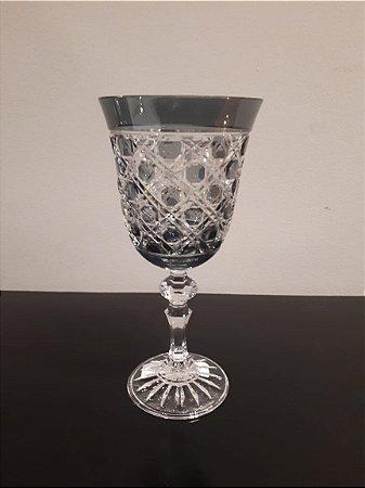 Taça Cristal Aguá cz 9x9x17cm