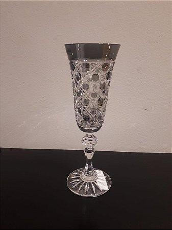 Taça Cristal Champanhe cz 7x7x19cm