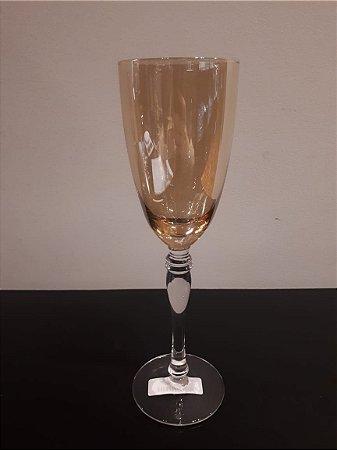 Taça vidro Champanhe Lushe ambar 260ml