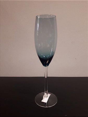 Taça Vidro Champanhe Enjoy azul