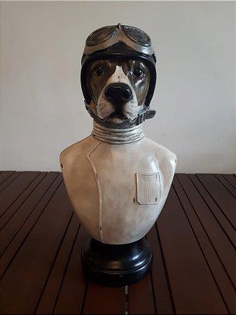 Busto Resina Cão Aviador  25x49cm