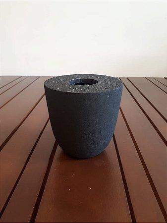 Vaso Alumínio preto 11x11cm