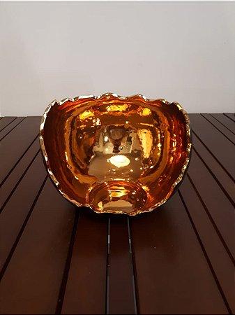 Luminária Redonda P pto/our 20x24cm