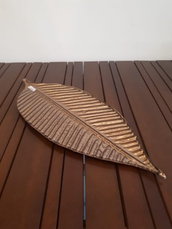 Folha Vidro Nanci bronze 68x36cm